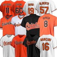 8 cal Ripken Baltimore Baseball-Trikots OriolesMänner Trey Mancini Chris Davis Mountcastle Jim Palmer Givens Jersey