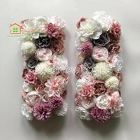 High Quality Artificial Flower Wall Wedding Background Dahlia Austin Rose Fake Runner Plate Road Lead Home Decorative Flowers & Wreaths