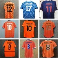 Pays-Bas Retro Soccer Jersey 1974 1986 1988 1990 1991 1997 1997 1997 1998 2000 2002 2012 2014 De Jong Holland Chemise de football Vintage Gullit Van Basten Bergkamp