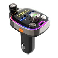 Bluetooth Car Kit Charger Wireless BT 5.0 Auto FM Transmitter Hands Free Calling With 5V 3.6A PD+Double USB Ports
