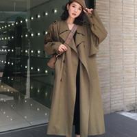 Trench femminile Donne Donne Vento A Vento Fashion Femmina 2021 Autumn Autumn Raincoat Doppio Bresed Womencoat Manica lunga Lato soprabito coreano