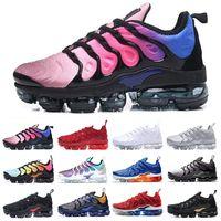 Air VaporMax Tn plus TN Plus Sports Shoes Men Air Cushion Running Shoe Pink Sea Triple Black White Purple Lemon High Quality