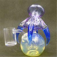 유리 드래곤 클로 ORB 물 봉 10mm 여성 조인트 물 담뱃대 파이프 버블 러 장비