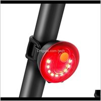Lights Usb Charging For Bicycle Road Mountain Bike Rear Light Waterproof Led Cycling Taillight Accessories 5 Lighting Modes Id7Lx Aofls