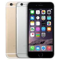 تم تجديده الأصلي التفاح iphone 6 مع بصمة 4.7 بوصة a8 شرائح 1 جيجابايت رام 16/64/128 جيجابايت روم ios 8.0mp مقفلة lte 4 جرام الهاتف الذكي بالجملة مجانا dhl 30 قطع