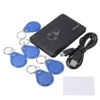 Contrôle de la maison intelligente USB 125KHZ TK4100 / EM4200 Lecteur de carte de carte sans contact Fenêtre Support sans contact Linux avec 5 pcs Cartes d'identité Keyfob