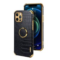 Comincan Litchi leather Mobile Phone Cases For iphone 13 12 11 pro max protective PU cellphone back Cover protector with electrofacing frame and finger holder