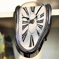 Yenilikçi Büküm Stil Duvar Saati Komik Erime Tarzı Masa Köşe Romen Numaraları Dik Açı Retro Deformasyon Zaman Saati SH190924