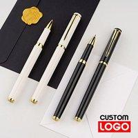 Gel pluma metal clásico negocio pluma personalizado logotipo texto grabado firma cumpleaños regalos de oficina escuela papelería
