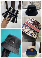 2021 Balde chapéu Luxurys largo borda chapéus homens moda moda clássico designer 2 lados verão nylon outono primavera pescador sun bonés cair bom bom