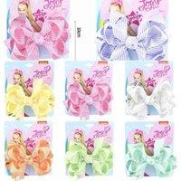 2021 Moda Bebé Meninas Bowknot Hairpin Stripe Ribbon Jovo Grandes Arcos De Cabelo De Cabelo Três Camada Crianças Cocar Acessórios De Cabelo G4EIWFH