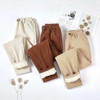 Women's Pants & Capris Women Corduroy Thick Velvet Casual Warm Winter Elastic Waist Harem Loose Trousers