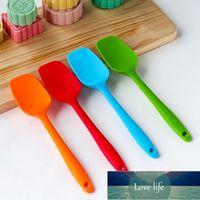 Hot Universal Heat Resistant Integrate Handle Silicone Spoon Scraper Spatula Ice Cream Cake For Kitchen Tool Utensil Convenience