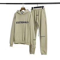 Толстовки 2021 High Street Fage Fashion Suit Plush Essentials Свитер Повседневные штаны