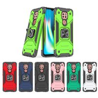 Armor Phone Cases For Moto G Stylus 2021 Play G9 Power E7 Plus PC +TPU Rugged Cover With CD Grain Car Ring Bracket