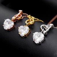 Luxury Korean Temperament Simple Fashion Love Crystal Zircon Short Necklace 925 Sterling Silver Heart-shaped Neckchain Jewelry