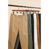 Pants Simwood Summer Spring Regular Fit Straight Men 100% Cotton Twill Enzyme Wash Trousers Classical Chinos Sj170995