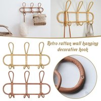 Garment Wall Hooks Hat And Clothes Organizer Hanger Rattan Rack Great As Kids Room Decoration M56 & Rails