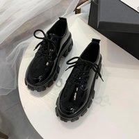 Высочайшее качество Осенние Сапоги Женщины Платформа Обувь Tanken Каблук Коренастые Кроссовки Черные Панк Сапоги Обувь Высота Увеличение Botas de Mujer 2021