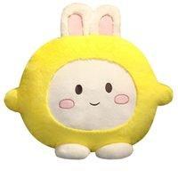 Cartoon plush toy cute lemon rabbit doll sleeping pillow child puppet girl birthday gift