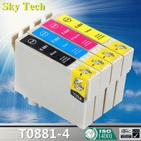Cartucce d'inchiostro compatibili per T0881 E-881 Stylus CX4400 / CX4450 / CX7400 / CX7450 / CX7400 / CX7450 / NX100 / NX105 / NX110 / NX200 / NX215 Etc