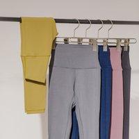High waist fitness women's tight running quick dry matte naked feeling Lulu Yoga Pants align peach hip sports pants