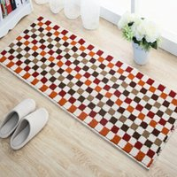 Teppiche Geometrisches Gitter Muster Einfache Streifen Hohe Qualität Rutschküche Küchenöl Absorption Quadratmatte Schlafzimmer Dekorative Mosaik Teppich
