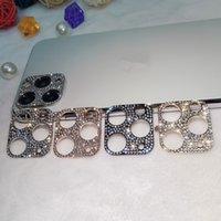아이폰 12 11 Pro Max Glitter Crystal Len 보호 커버 용 다이아몬드 카메라 렌즈 보호 케이스
