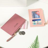 Card Holders 2021 Fashion Luxury Wallet Credit Id Holder Women's Wallets Simple Zipper Coin Purse Women Handbags