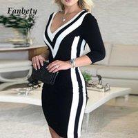 2021 осень зима винтажные леопардовые блестки лоскутное вечеринка платье женщины элегантные V-образные шеи тонкие платья женские повседневные офисные Veatidos