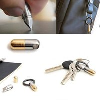 Capsule Knife Sharp Keychain Micro Cutting Tool function Open Can keychains Pocket Cutter Pill Mini For Travel BWD7302