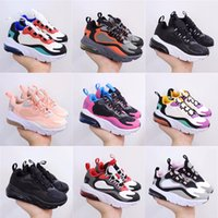 Kids Walking Running Shoes 270 React Bauhaus Phantom Red Gold Black White Hyper Bright Violet Toddler Trainers Boys Girls Casual Sneakers