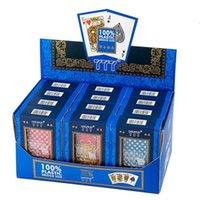 PVC Poker Kartları Su Geçirmez Texas Hold'em Oyun Kartları Siyah Jack Plastik Oyun Kartı Poker Oyun Tahtası Oyun Kartı Yaratıcı Hediye