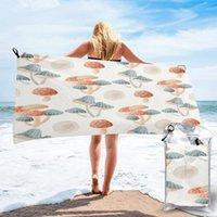 Towel Bathing Watercolor Mushroom Cute Pattern Bath Wearable Dress Fast Drying Beach Spa Magical Nightwear Sleeping