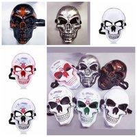 Máscara de terror esqueleto Halloween crack máscara máscara grito masquerade máscaras adulto cara completa retro fiesta el mascarilla gga2654