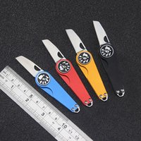 Mini key chain folding knife home travel portable open box knives outdoor camping portables rescue bag backpack EDC tools HW577