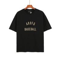 2021 USA Spring Summer Summer 7ème Baseball Arc Flocking Logo T-shirt Hommes Cool Hommes Femmes High Street Tee T-shirt T-shirt