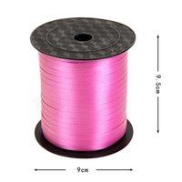 Renkli Balon Şerit Düğün Doğum Günü Partisi Süslemeleri Hediye Sarma Dize 220 M * 5mm / Rulo 15 Renk OOD5866 seçebilirsiniz