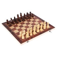 3 in 1 chess folding wooden large checkerboard beginner children adult puzzle toy
