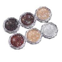 6 색 다이아몬드 병에 든 크리스탈 파우더 버스트 스파클링 네일 쥬얼리 반짝이 장식 조각