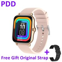Free Gift Original Strap PDD Smart Watch Men Women Full Touch Screen Fitness Tracker Heart Rate Monitor IP67 Waterproof PK amazfit gts For Android and IOS Phone