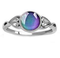 Wykrywanie temperatury Discolation Lady Pierścień Biżuteria Dziewczyny Kobiety Plated Silver Moda Kolor Zmień pierścienie Originality Wszechstronne 2wy J2