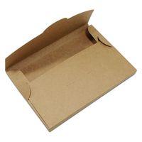 50pcs Lot Brown DIY Cards Packaging Box Cardboard Po Pack Gift For Postcard Kraft Paper Envelope Package Case Party Favor Wrap