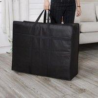 Bolsa de viagem de colcha não tecida tecido mover casa zíper fecho de embalagem de mão bagagem de mão grande capacidade de armazenamento de armazenamento de dobramento portátil duffel sacos