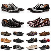 Red Bottoms 상자 빨간색 바닥 망 드레스 신발 원래 가죽 로퍼 스 니 커 즈 캐주얼 chaussures 남자 Luxurys 디자이너 공식 비즈니스 패션 플랫 힐 크기 39-47