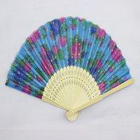 Ventilatori pieghevoli Flower Printing Design a mano Bamboo Fans Pieghevole Festival Eventi Forniture Regali di nozze Bomboniere Artigianato Artigianato HHC6182