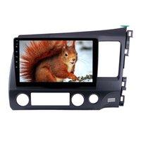 2Din 안드로이드 10.1 인치 자동차 DVD 라디오 GPS 멀티미디어 플레이어 헤드 유닛 Honda Civic RHD 2006-2011