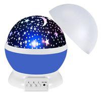 LED Projektör Yıldız Ay Gece Işık Gökyüzü Dönen Kumandalı Nightlight Lamba Çocuklar Çocuklar Için Bebek Yatak Odası Kreş Noel Hediyesi Tipi İki Donanma