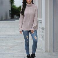 Женские тулеры свитера осень зима с длинным рукавом вязаный пуловер свитер Tops WDC5466