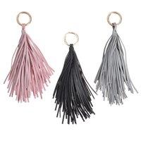 Fashion Car Pendant Keychain Women Handbag Key Chain Ring Holder Charm PU Leather Tassels Bag Accessories (Pink) Party Favor